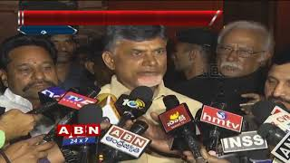 CM Chandrababu Naidu with Media after meet with Arun Jaitley