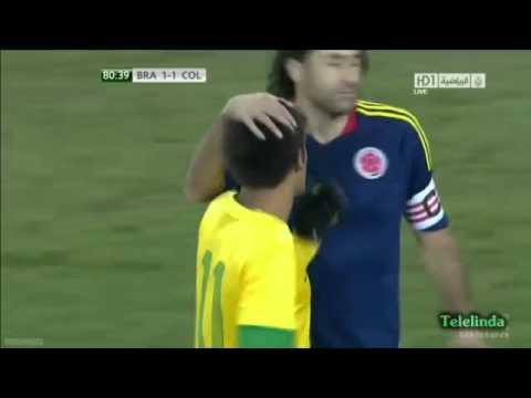 Incredible Penalty Fail by Neymar !! Neymar Falla Penalti 2012   Brazil vs Colombia 2012