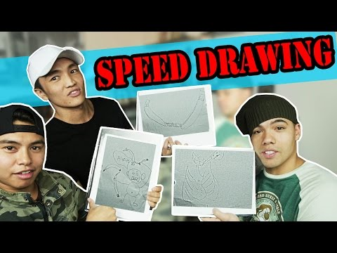 SPEED DRAWING CHALLENGE (ft Green and Jmocak)