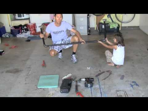 How To Make A Homemade Pull Up Bar YouTube