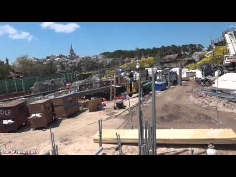Seven Dwarfs Mine Train Construction Walk-Around at Disney World's Magic Kingdom