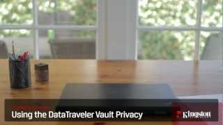 Using the DataTraveler Vault Privacy USB Flash Drive