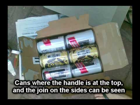 This video shows you how to get your cans of premix drinks into camping music festivals like Falls Festival or Pyramid Rock etc. It's really easy and floor l...