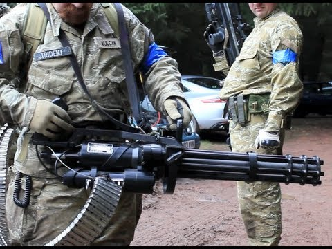 M134 Minigun Problems Scotland 2012 HD