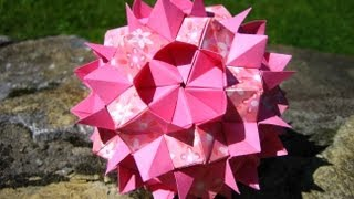 Origami  Queen`s Crown  Kusudama