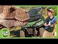 NEW T-REX in Dinosaur Park! Hunt For Giant Life Size Dinosaurs for Kids in Family Adventure! Kids