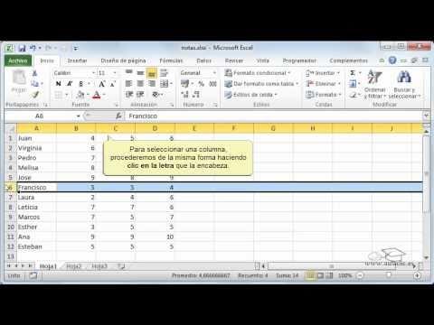 Excel - Curso gratis de Excel 2010 part4