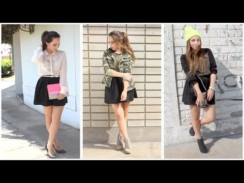 Combina tu falda negra! - Outfits | What The Chic