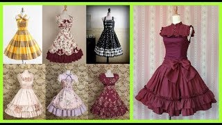 stylish cotton frilly frock designs for girls