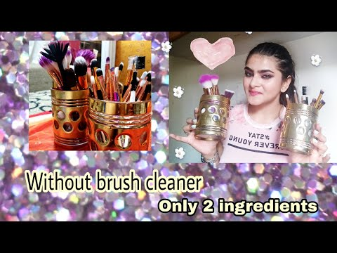 How to clean makeup brushes without brush cleaner | Easy way | Hindi | Ria Das |