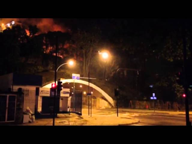 Raw: Violence Erupts in Rio Near Olympic Venue
