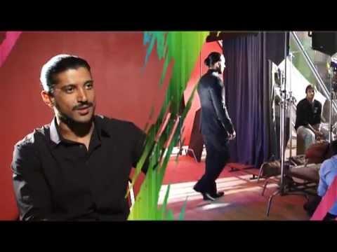 Farhan Akhtar shooting Dulux Paints Ad