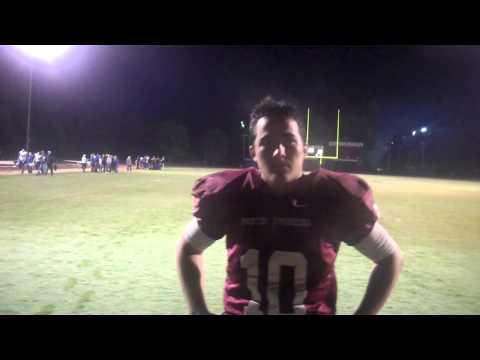 Austin Swenson talks about his performance against Illinois College