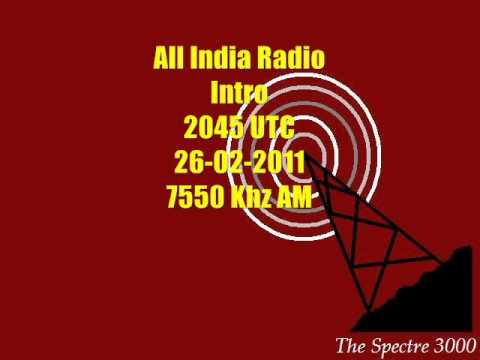 All India Radio Intro 2045 UTC 26 02 2011 7550 Khz AM