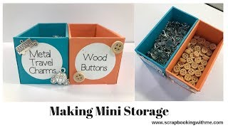 Mini Storage Boxes From Our Scraps
