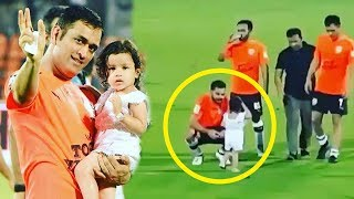 Virat Kohlis CUTE Video Playing With MS Dhonis Daugther Zeva At Football Match
