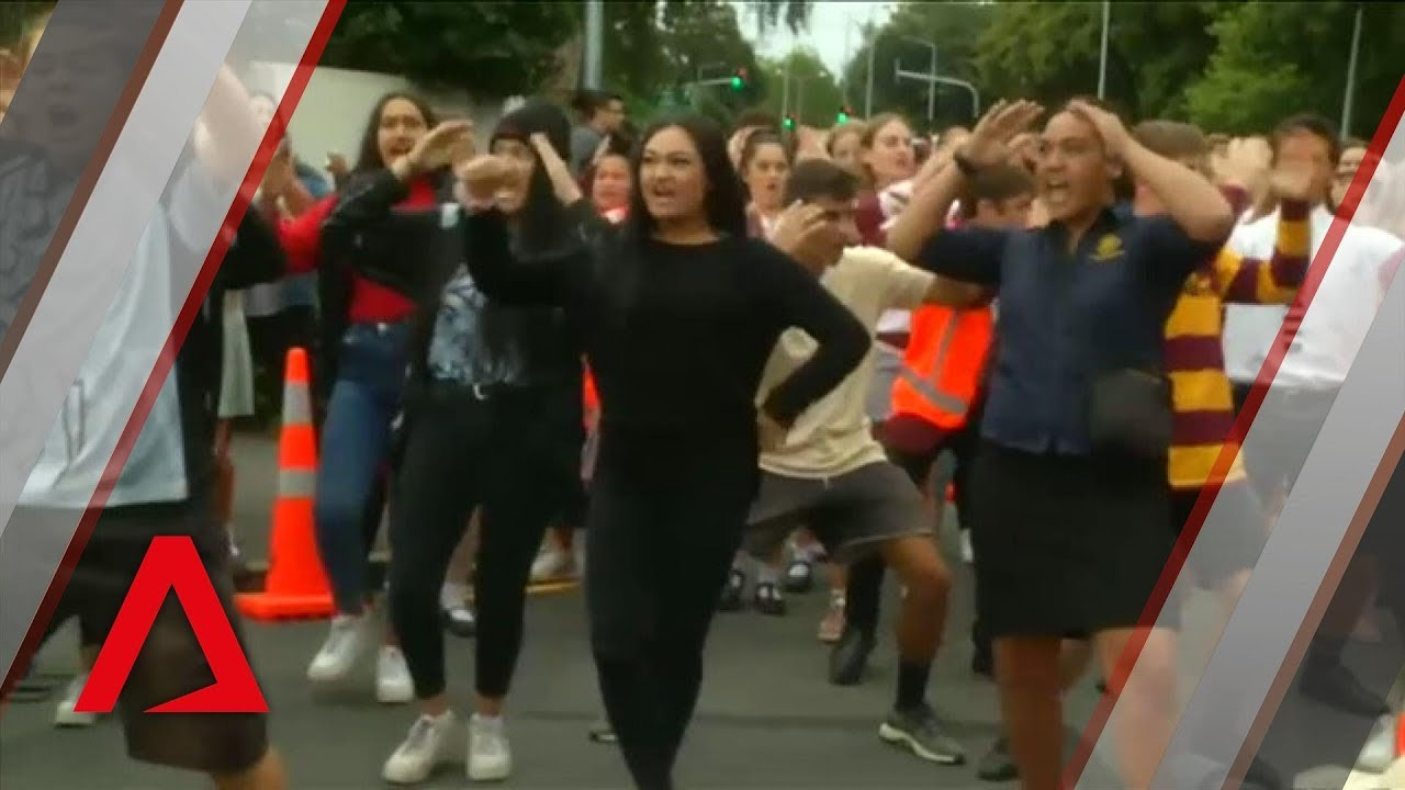 Christchurch shootings: Students perform the Haka to mourn terror attack victims