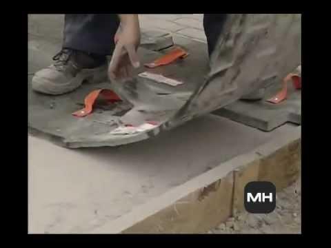 Como se hace el hormigon impreso con mundo hormigon youtube - Como hacer una solera de hormigon ...