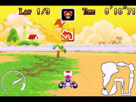Mario Kart - Super Circuit - Mario Kart - Super Circuit (GBA) - Cheep Cheep Island shortcut - User video