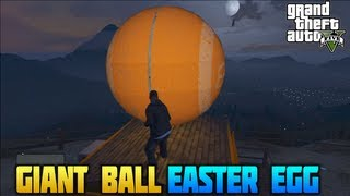 """GTA 5"" - ""GIANT BALL"" Giant Ball Easter Egg Roll A Giant Ball Down A Mountain - Grand Theft Auto 5"