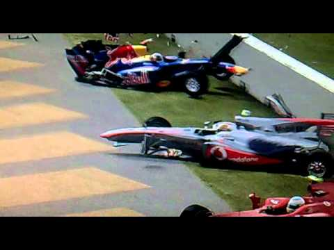 F1 2010 Codemasters Fernando Alonso Crash South Korea