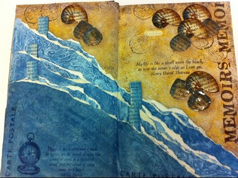 Art Journal Book - Page 2 - Hidden Pockets and Tags