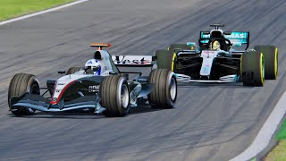 Mercedes F1 2018 vs McLaren F1 2004 -  Monza