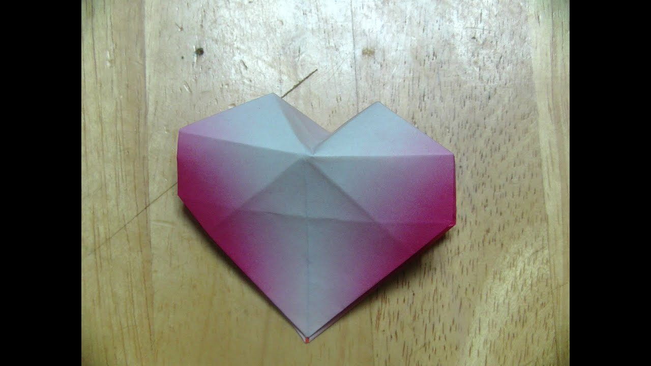 すべての折り紙 3d 折り紙 折り方 : ... 立体ハートの折り方 - YouTube