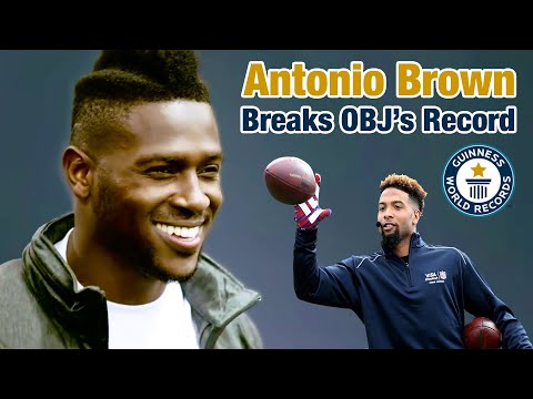 Antonio Brown Breaks the One-Handed Catch Guinness World Record Surpassing Odell Beckham Jr.