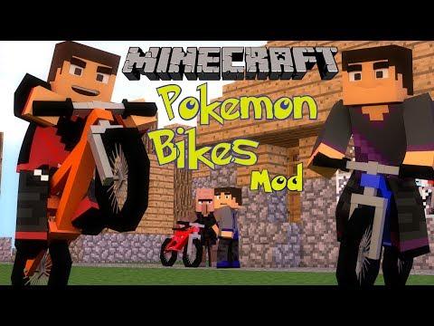 Minecraft: PokeCycle Mod (Bike Shops. Wheelies and More!) Mod Showcase