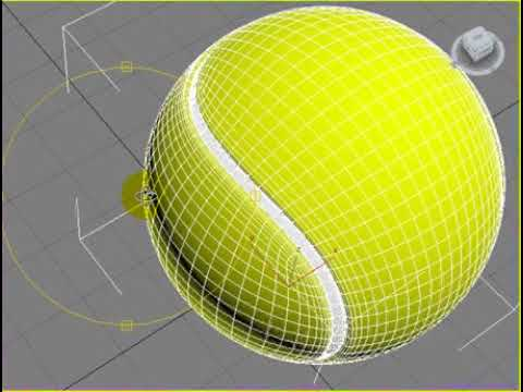 3ds Max 2012 Realistic Tennis Ball [One waY]
