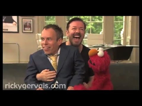 Elmo Visits Ricky Gervais  Office