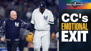 Yankees' CC Sabathia makes emotional exit from ALCS Game 4