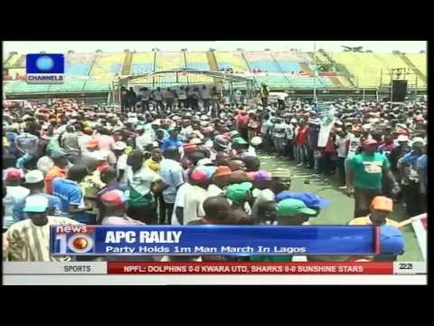News@10: APC Holds 1 Million Man March In Lagos 07/03/15 Part 2