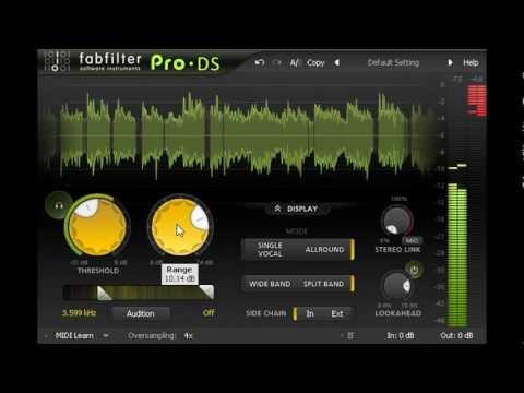 FabFilter Pro-DS intelligent de-esser