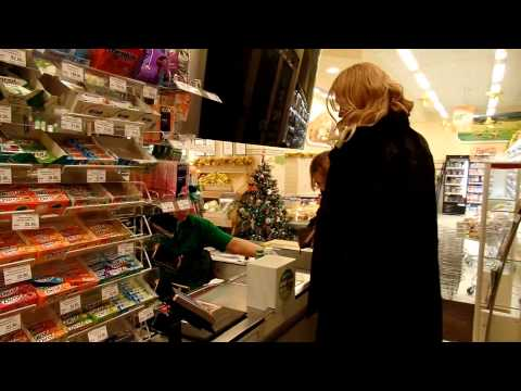 Two Women And One Crossdresser In A Shop Joking  Has Subtitles