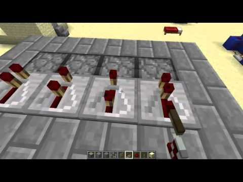 How to make a Minecraft Castle Gate with pistons 1.7.9