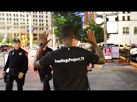 Approaching Cops At The Republican National Convention