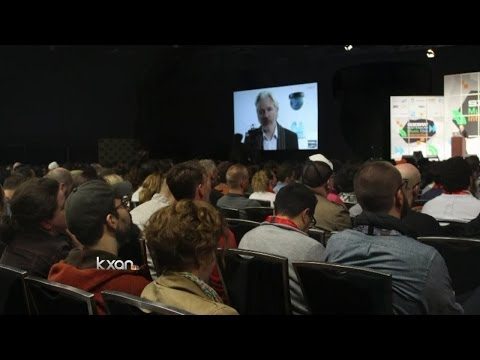 Julian Assange speaks at SXSW