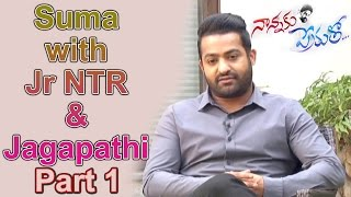 suma-special-chit-chat-with-jr-ntr-jagapathi-babu-nannaku-prematho-movie-part-1-ntv