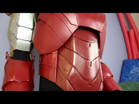 XRobots - Iron Man Cosplay, Building Abs out of Sintra/Foamex, Polystyrene and Foam sheet