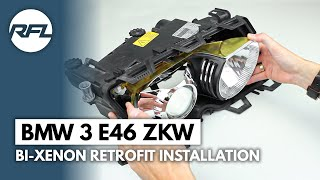 BMW 3 E46 ZKW xenon projector headlight repair kit installation