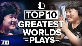 Top 10 Greatest Worlds Plays in League of Legends History
