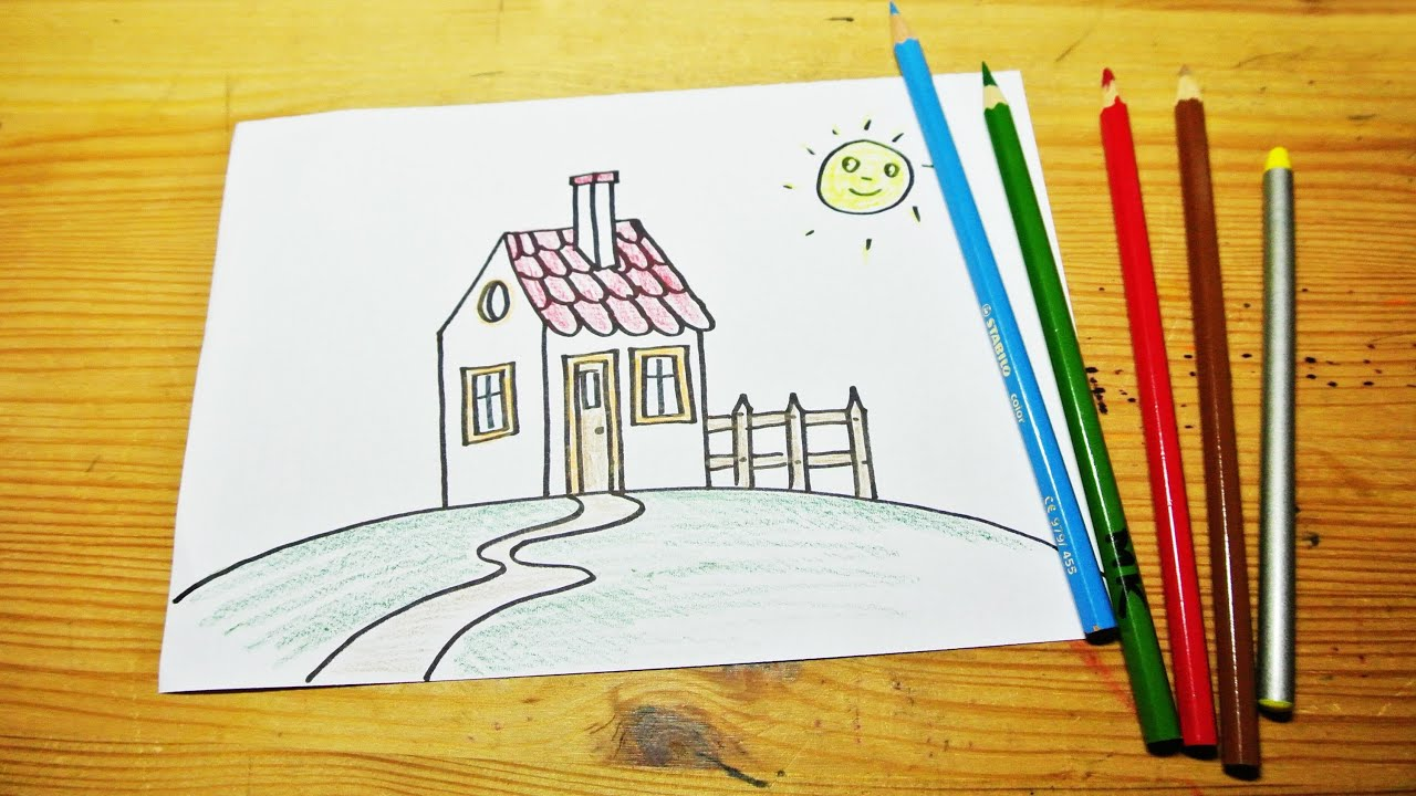 Kids House Drawing How to Draw a House For Kids