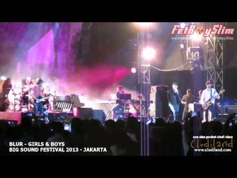 BLUR - GIRLS AND BOYS ( Opening ) live at Big Sound Festival Jakarta, Indonesia 2013
