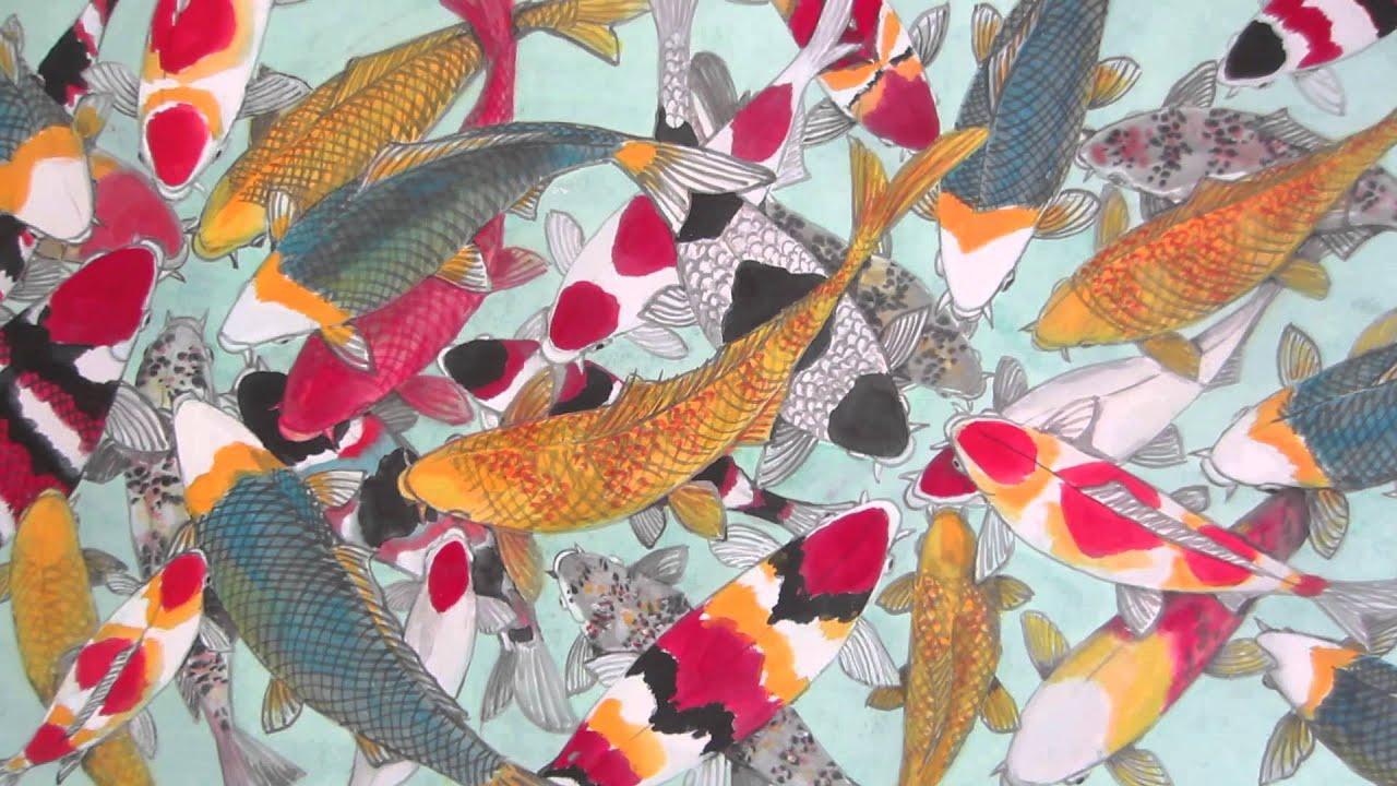 Japanese koi fish paintings