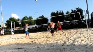 Best Beach Volleyball foot dig point ever