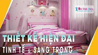 Phòng ngủ bé gái sắc màu nổi bật - NỘI THẤT BABY