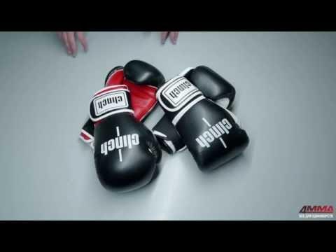 Фото:Боксерские перчатки Clinch Punch черно-белые