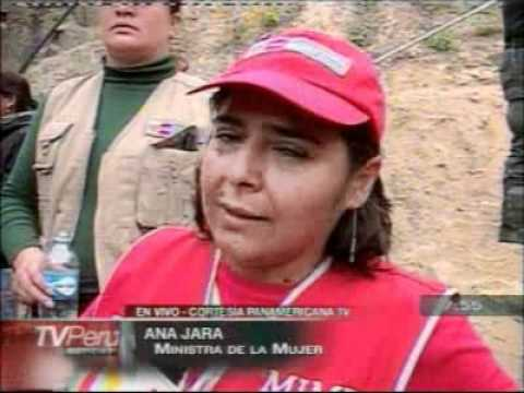 Ministra de la Mujer felicita que rescate de los mineros fuera hecho por compatriotas